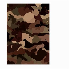 Background For Scrapbooking Or Other Camouflage Patterns Beige And Brown Large Garden Flag (two Sides)