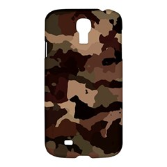 Background For Scrapbooking Or Other Camouflage Patterns Beige And Brown Samsung Galaxy S4 I9500/i9505 Hardshell Case by Nexatart