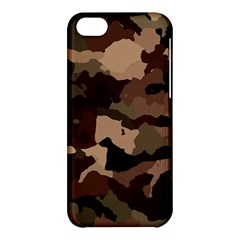 Background For Scrapbooking Or Other Camouflage Patterns Beige And Brown Apple Iphone 5c Hardshell Case by Nexatart