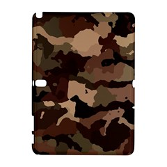 Background For Scrapbooking Or Other Camouflage Patterns Beige And Brown Galaxy Note 1 by Nexatart