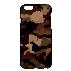 Background For Scrapbooking Or Other Camouflage Patterns Beige And Brown Apple Iphone 6 Plus/6s Plus Hardshell Case by Nexatart