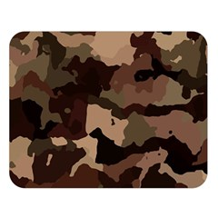 Background For Scrapbooking Or Other Camouflage Patterns Beige And Brown Double Sided Flano Blanket (large)  by Nexatart