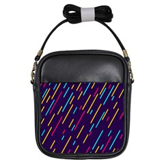 Background Lines Forms Girls Sling Bags