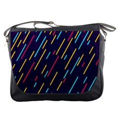 Background Lines Forms Messenger Bags by Nexatart