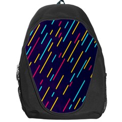 Background Lines Forms Backpack Bag by Nexatart