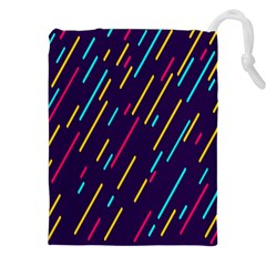 Background Lines Forms Drawstring Pouches (xxl) by Nexatart