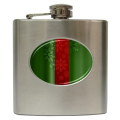 Background Christmas Hip Flask (6 Oz)