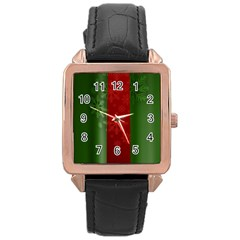 Background Christmas Rose Gold Leather Watch