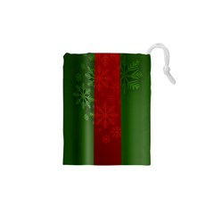 Background Christmas Drawstring Pouches (xs)  by Nexatart