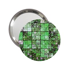 Background Of Green Squares 2 25  Handbag Mirrors