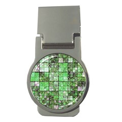 Background Of Green Squares Money Clips (round)