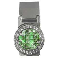Background Of Green Squares Money Clips (cz)  by Nexatart