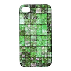 Background Of Green Squares Apple Iphone 4/4s Hardshell Case With Stand