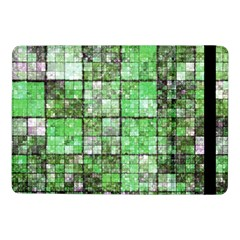 Background Of Green Squares Samsung Galaxy Tab Pro 10 1  Flip Case