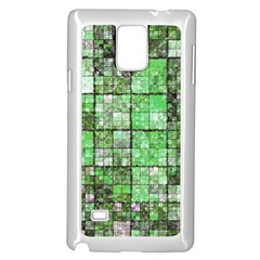 Background Of Green Squares Samsung Galaxy Note 4 Case (white) by Nexatart