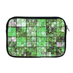 Background Of Green Squares Apple Macbook Pro 17  Zipper Case