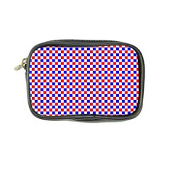 Blue Red Checkered Coin Purse