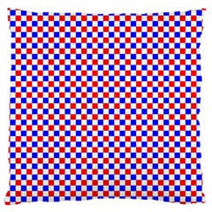 Blue Red Checkered Large Cushion Case (two Sides)