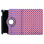 Blue Red Checkered Apple iPad 3/4 Flip 360 Case Front
