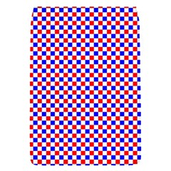 Blue Red Checkered Flap Covers (s)