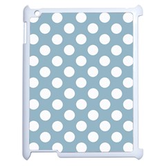 Blue Polkadot Background Apple Ipad 2 Case (white) by Nexatart