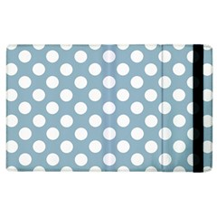 Blue Polkadot Background Apple Ipad 2 Flip Case