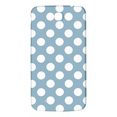 Blue Polkadot Background Samsung Galaxy Mega I9200 Hardshell Back Case by Nexatart