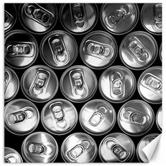Black And White Doses Cans Fuzzy Drinks Canvas 20  X 20   by Nexatart