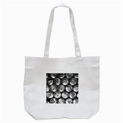 Black And White Doses Cans Fuzzy Drinks Tote Bag (white) by Nexatart
