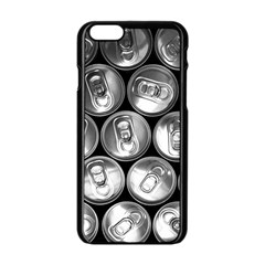 Black And White Doses Cans Fuzzy Drinks Apple Iphone 6/6s Black Enamel Case by Nexatart