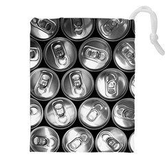 Black And White Doses Cans Fuzzy Drinks Drawstring Pouches (xxl) by Nexatart