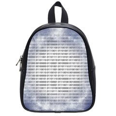 Binary Computer Technology Code School Bags (small)  by Nexatart