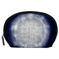 Binary Computer Technology Code Accessory Pouches (large)  by Nexatart