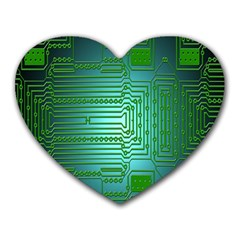 Board Conductors Circuits Heart Mousepads by Nexatart