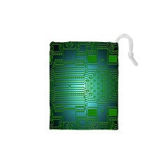 Board Conductors Circuits Drawstring Pouches (xs)  by Nexatart