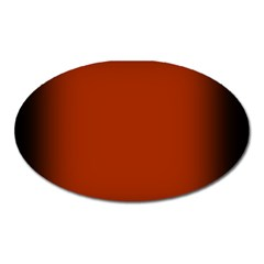 Brown Gradient Frame Oval Magnet