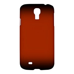 Brown Gradient Frame Samsung Galaxy S4 I9500/i9505 Hardshell Case by Nexatart
