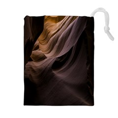 Canyon Desert Landscape Pattern Drawstring Pouches (extra Large) by Nexatart