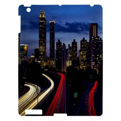 Building And Red And Yellow Light Road Time Lapse Apple Ipad 3/4 Hardshell Case