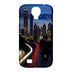 Building And Red And Yellow Light Road Time Lapse Samsung Galaxy S4 Classic Hardshell Case (pc+silicone) by Nexatart