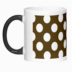 Brown Polkadot Background Morph Mugs