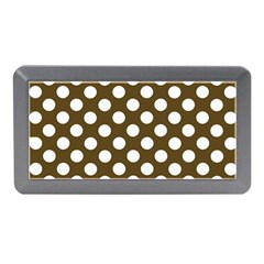 Brown Polkadot Background Memory Card Reader (mini)