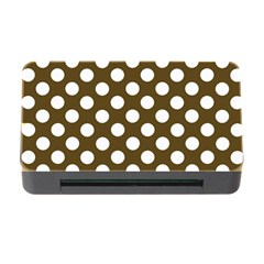 Brown Polkadot Background Memory Card Reader With Cf