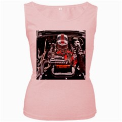 Car Engine Women s Pink Tank Top