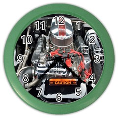 Car Engine Color Wall Clocks