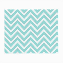 Chevrons Zigzags Pattern Blue Small Glasses Cloth (2 Side) by Nexatart