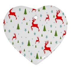 Christmas Pattern Ornament (heart) by Nexatart