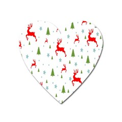Christmas Pattern Heart Magnet by Nexatart