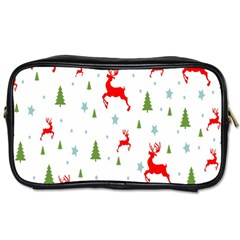 Christmas Pattern Toiletries Bags 2 Side by Nexatart
