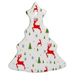 Christmas Pattern Christmas Tree Ornament (Two Sides) Back